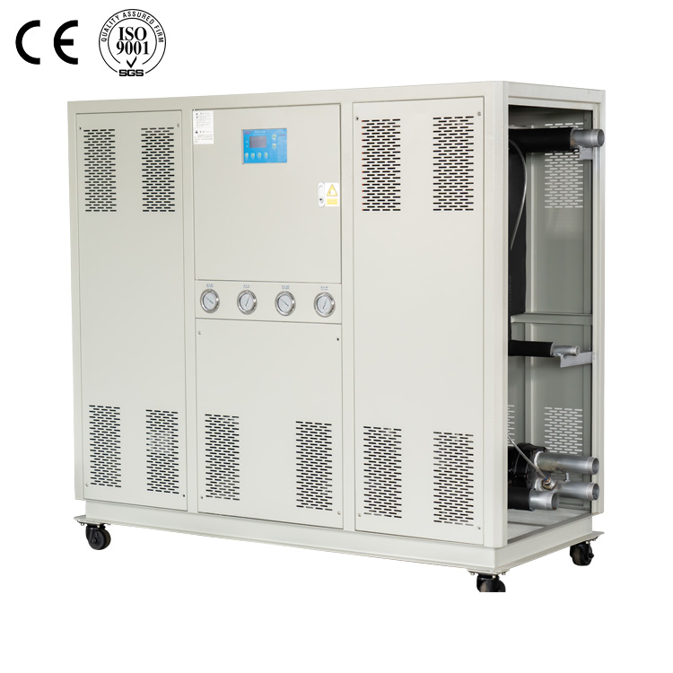 Two compressorwater cooled industrial water chiller for plastic machine