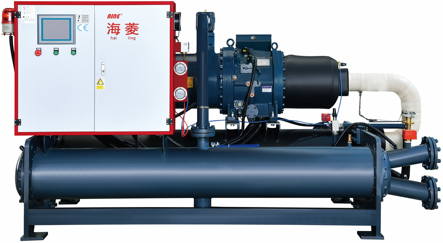 water cooled screw unit for the semi-hermetic compressors unit