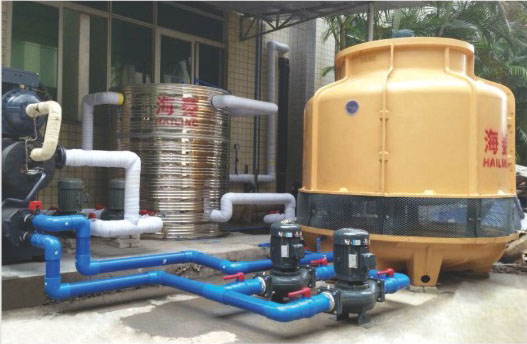 water cooled screw chiller with cooling tower