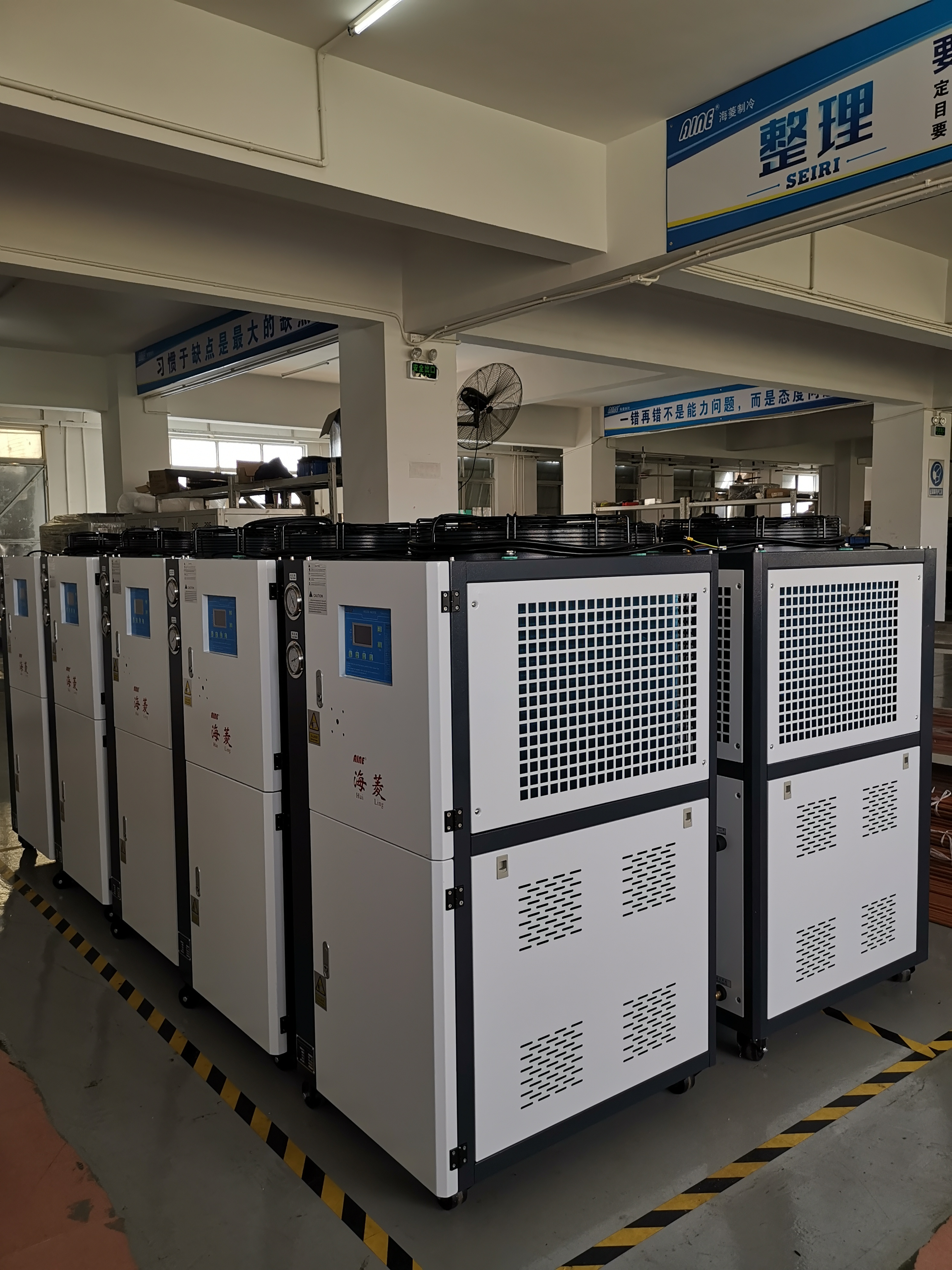 many pcs air cooled chiller for mold injection ready to deliver