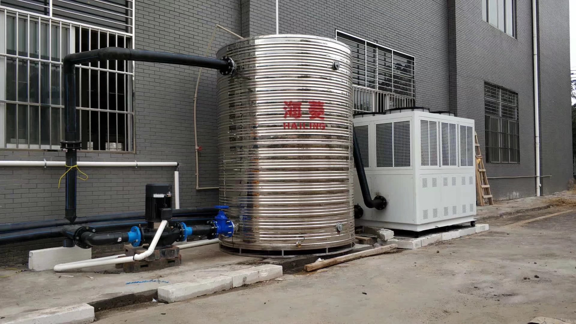 8 ton air cooled chiller for outdoor installation